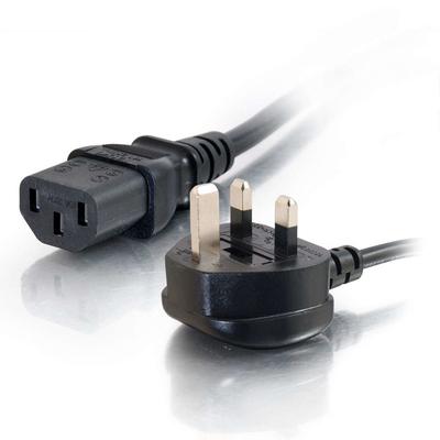 C2G 1 m 16 AWG Europese voedingskabel (IEC320C13 naar BS 1363) Electriciteitssnoer