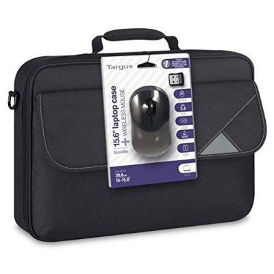 "Targus laptoptas: 39.624 cm (15.6 "") Clamshell + Wired Mouse, Black - Zwart"