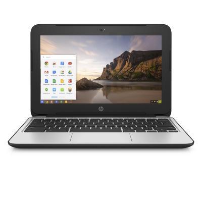 Hp laptop: Chromebook 11 G4 - Intel Celeron N2840 - Zwart, Zilver