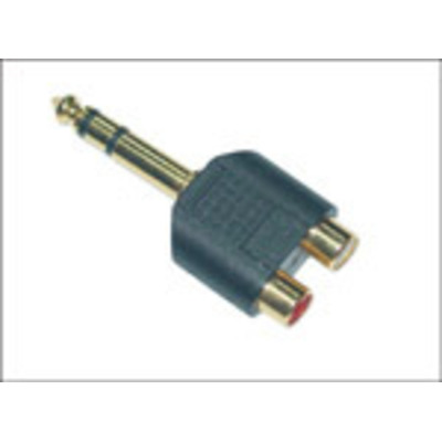 Microconnect 6.3mm - 2XRCA Kabel adapter