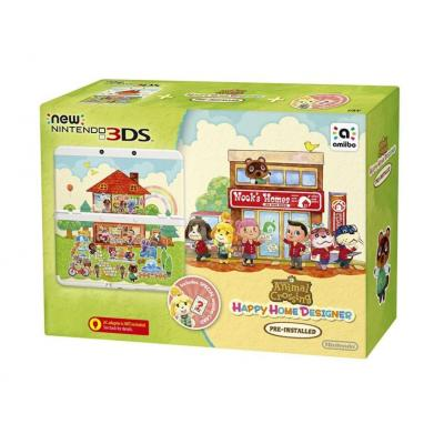 Nintendo portable game console: New 3DS + Animal Crossing: Happy Home Designer Pack - Multi kleuren