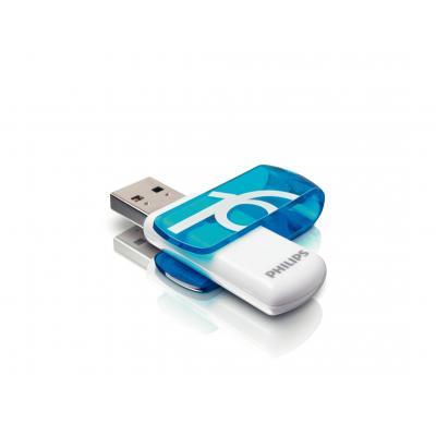 Philips FM16FD05B/00 USB flash drive - Blauw, Wit