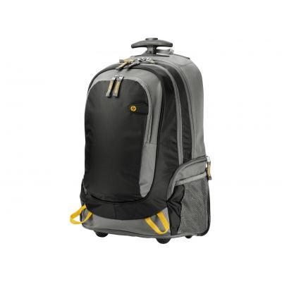 Hp laptoptas: 15.6 Rolling Backpack - Zwart, Grijs, Geel
