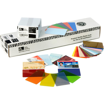 Zebra visitiekaart: Premier Colour PVC
