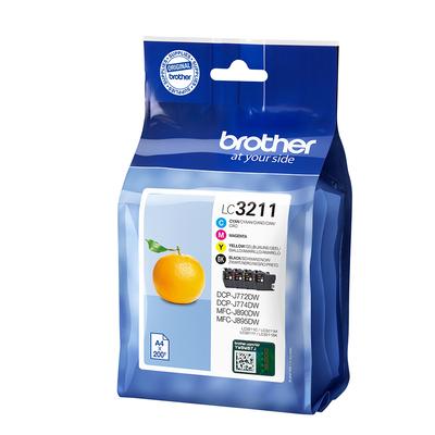 Brother LC-3211VAL Inktcartridge - Zwart, Cyaan, Magenta, Geel