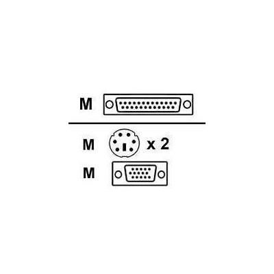 Avocent PS2 kabel: SINGLE SHEATH PS 2 KEY