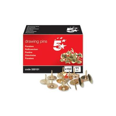 5star punaise: Office Brassed Drawing Pins of 11mm Head Diameter (Pack 150)