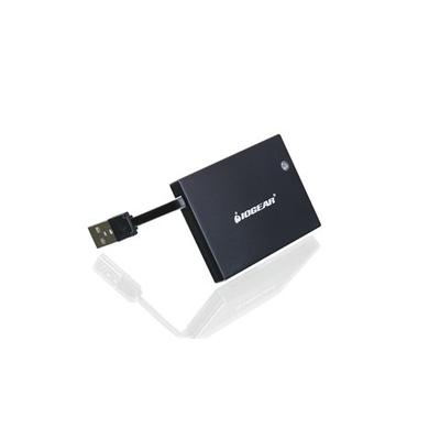 Iogear GSR203, Portable Smart Card Reader (TAA Compliant) Smart kaart lezer - Zwart