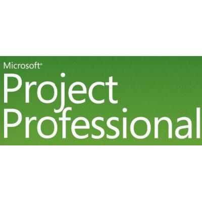 Microsoft Project Professional, SA, EDU, OLP B, Win32, CAL Software licentie