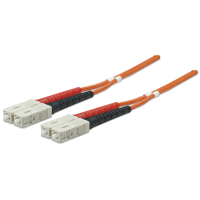 Intellinet Fibre Optic Patch Cable, Duplex, Multimode, SC/SC, 50/125 µm, OM2, 2m, LSZH, Orange Fiber optic .....