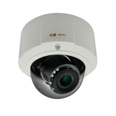 ACTi E89 10M Dome Adaptive IR WDR Beveiligingscamera - Zwart,Wit