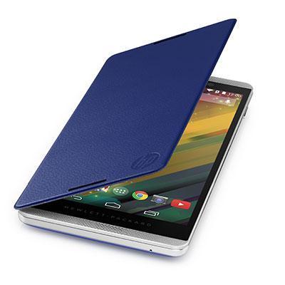 Hp tablet case: Slate 6 VoiceTab Blue Flip Cover - Blauw