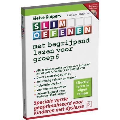 Karakter educatieve software: Slim Oefenen, Met begrijpend lezen (Dyslexi Versie) voor Groep 6