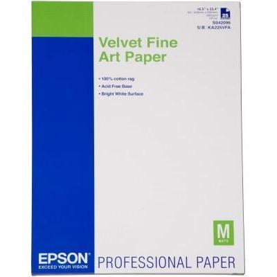 Epson grootformaat media: Velvet Fine Art Paper, DIN A2, 260g/m², 25 Vel