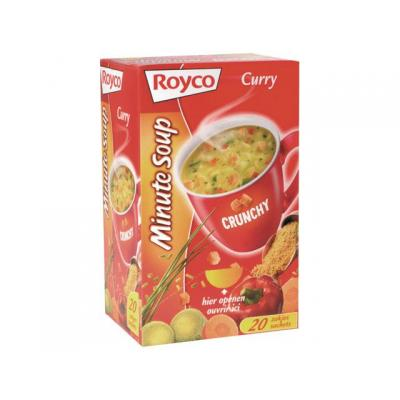 Royco voedingswaar: Minute soup Curry+croûtons/ds 20