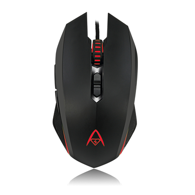 Adesso Multi-Color 7-Button Programmable Gaming Mouse Muis - Zwart