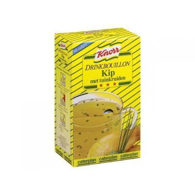 Knorr voedingswaar: Drinkbouillon kip/tuinkr/pk 80