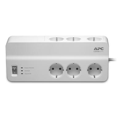 APC Stekkerdoos met overspanningsbeveiliging 6x stopcontact Surge protector - Wit