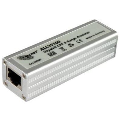 Allnet PoE adapter: Cat 6 Überspannungs-/Blitzschutz - Roestvrijstaal