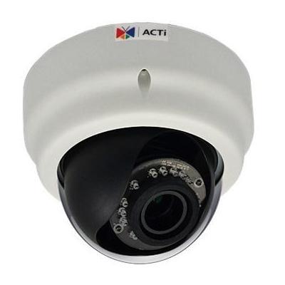 "Acti beveiligingscamera: 3MP, 1080p, 30 fps, 1/3.2"" CMOS, 8 kHz, Mono, PCM, Fast Ethernet, PoE, 6.49 W - Zwart, Wit"