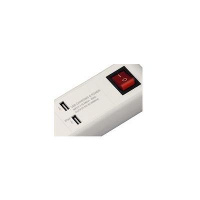 Hama USB 3A Surge protector - Wit