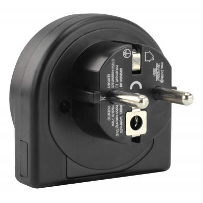 Ansmann Travel plug World to EU Stekker-adapter - Zwart