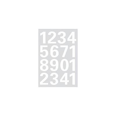 Herma etiket: Numbers 25mm 0-9 weatherproof film white 1 sheet