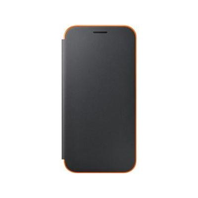 Samsung mobile phone case: Galaxy A5 2017 Neon Flip Wallet Cover - Black - Zwart