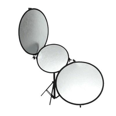Walimex fotostudioreflector: Tri-Reflector L - Zwart, Zilver