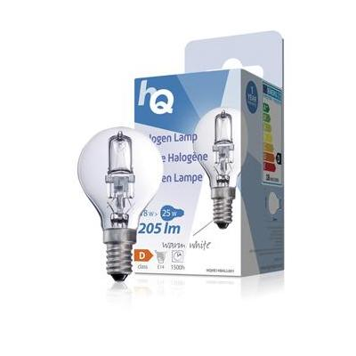 Hq halogeenlamp: Halogen lamp ball E14 18W 205lm 2800K