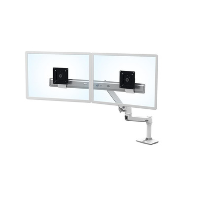 Ergotron LX Series Desk Dual Direct Arm Monitorarm - Wit
