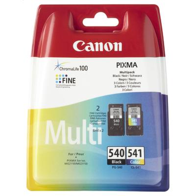 Canon PG-540 / CL-541 Inktcartridge - Zwart, Cyaan, Magenta, Geel