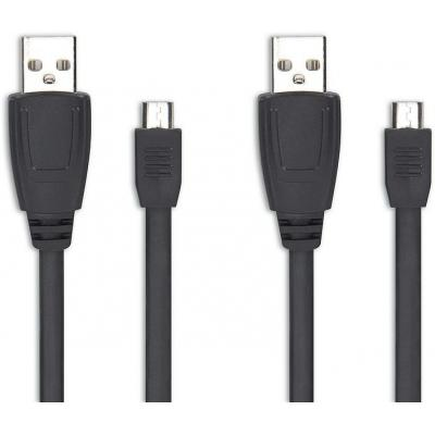 Speed-link USB kabel: STREAM Play & Charge Cable Set - for Xbox One, black - Zwart
