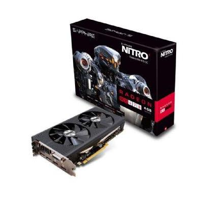 Sapphire videokaart: Radeon RX 470, PCI-Express 3.0, 4GB GDDR5, 256-bit - Zwart