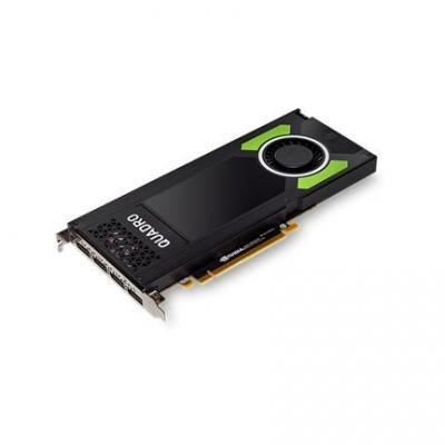 Lenovo ThinkStation Nvidia Quadro P4000 8GB GDDR5 DP, 4 Graphics Card With Long Extender videokaart - Zwart
