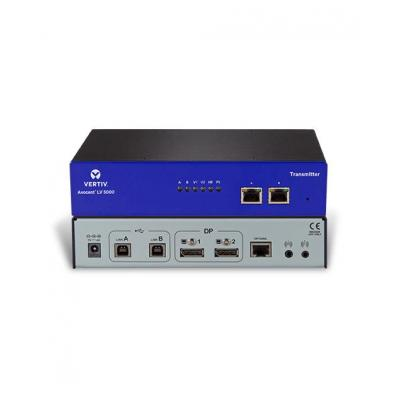 Vertiv : Avocent LongView dubbele DP, USB, audio, CATx 150M, VK - Blauw