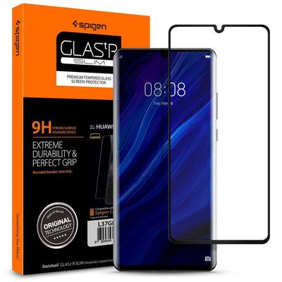 Spigen GLAS.tR Slim Screen protector - Zwart, Transparant