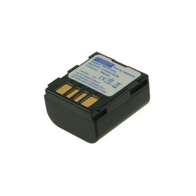 2-power batterij: Camcorder Battery, Li-Ion, 7.2V, 700mAh, 50g, Black - Zwart