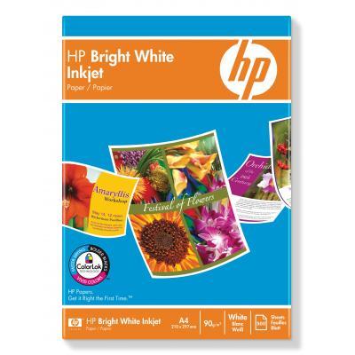 Hp papier: Bright White Inkjet Paper-500 sht/A4/210 x 297 mm