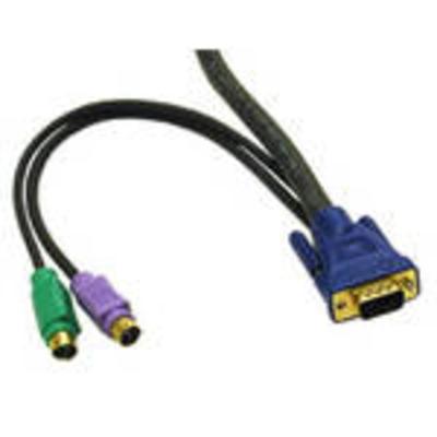 C2G 2m KVM Cable HD15 VGA M/M KVM kabel - Zwart