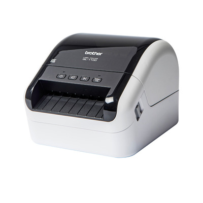 Brother Direct thermal, 300 x 300dpi, 12 - 103.6mm, 3m max, 7.8MB, 1.71kg Labelprinter - Zwart,Wit