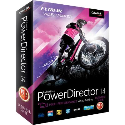 Cyberlink videosoftware: PowerDirector 14 Ultimate Suite