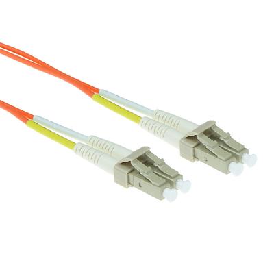 ACT 1m LSZHmultimode 62.5/125 OM1 glasvezel patchkabel duplexmet LC connectoren Fiber optic kabel - Oranje