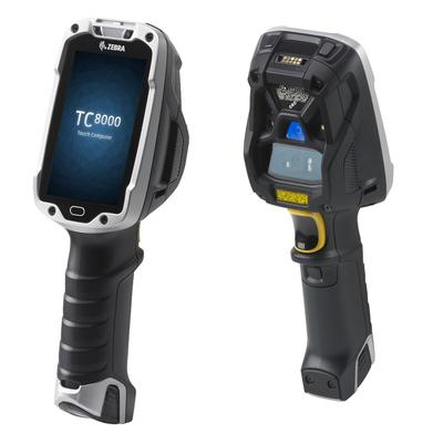 Zebra PDA: TC8000 - Zwart, Zilver