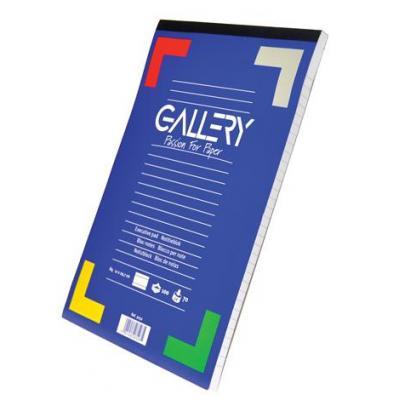 Gallery schrijfblok: Ft 21 x 29,7 cm (A4), gelijnd - Multi kleuren