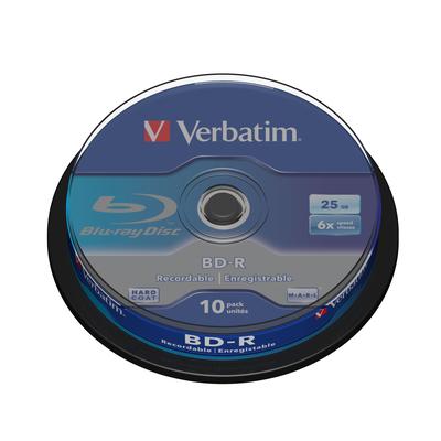 Verbatim BD: BD-R SL 25GB 6 x 10 Pack Spindle
