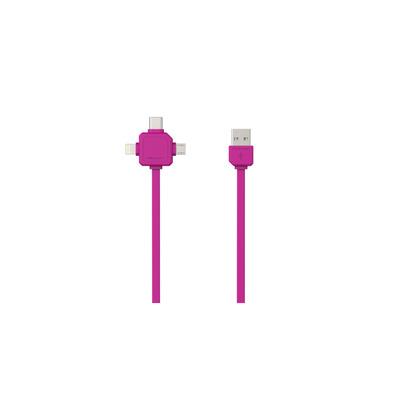 Allocacoc 9003PK/USBC15 USB kabel - Roze