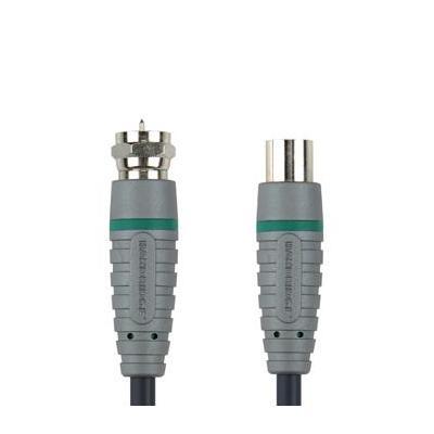 Bandridge coax kabel: Satteliet Kabel 1.0 m - Zwart