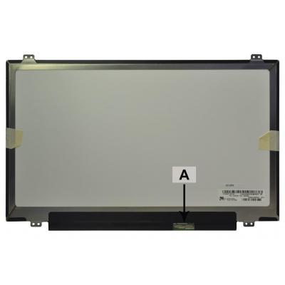 "2-power notebook reserve-onderdeel: 35.56 cm (14.0 "") , WUXGA, 1920X1080, LCD, Matte - Zwart"