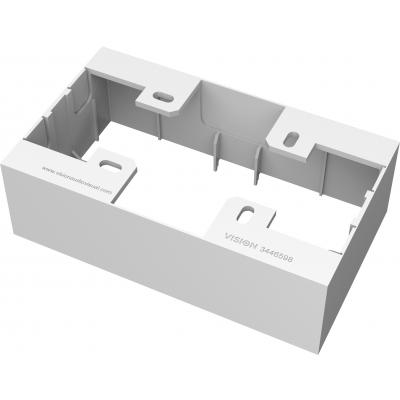 Vision electrical box: Aluminium, 150x106x73mm, White - Wit